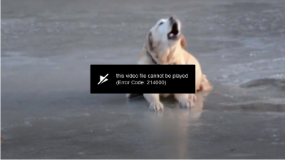 "I get ""This video cannot be played - Error Code: 214000"" error for all videos on weather.com website using Pale Moon."