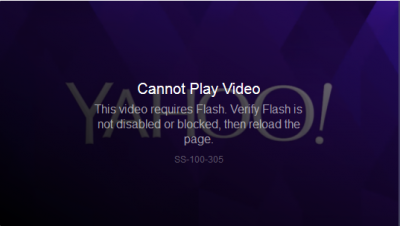 Yahoo video problems now.png