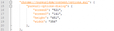 Excerpt from xulstore.json in the profile directory