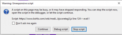 Note: the 2nd script error will vary depending on what is getting rendered at the time.
