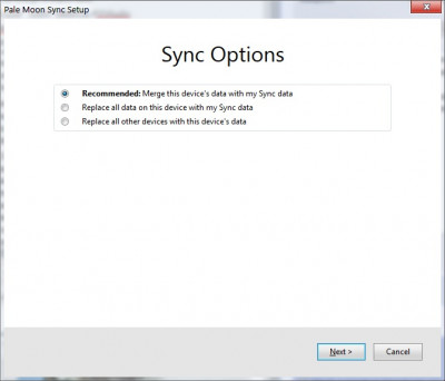 Selected sync reset option 3
